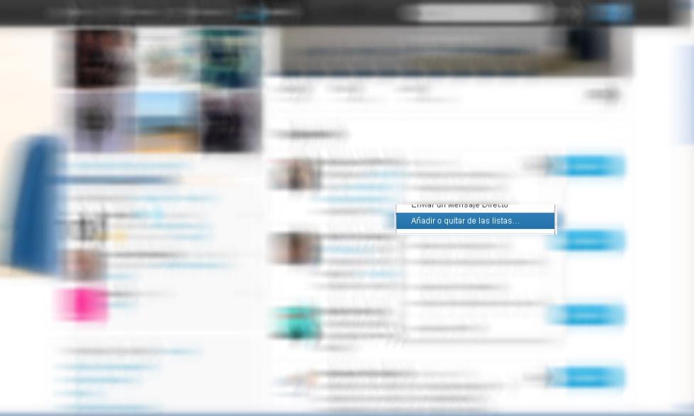 anadir usuarios a las listas de twitter