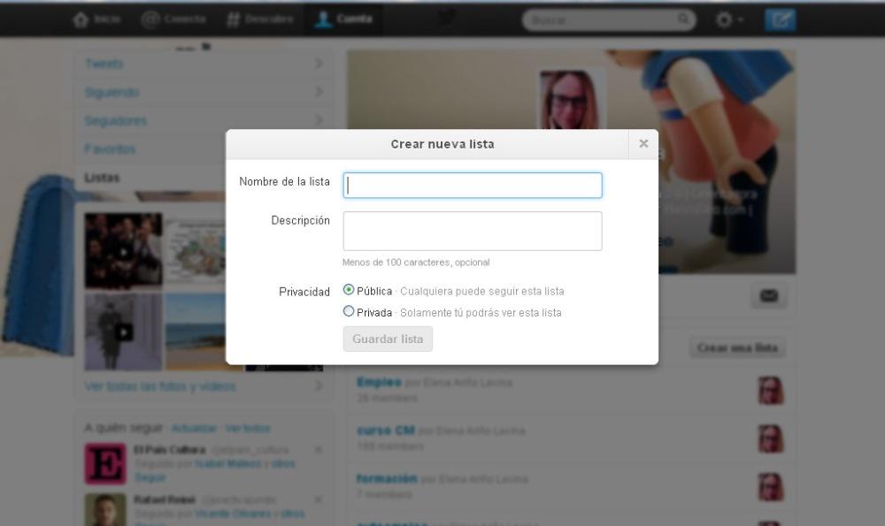 crear listas en twitter